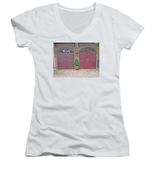 Charleston Doors Women's V-Neck