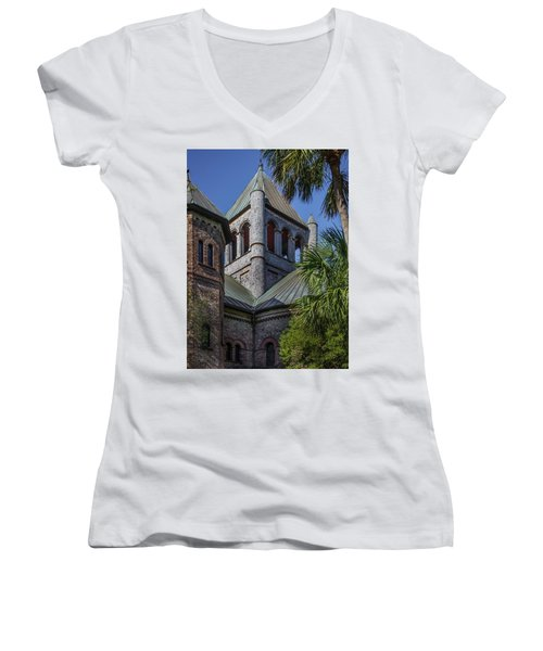 Charleston Historic Church Women's V-Neck