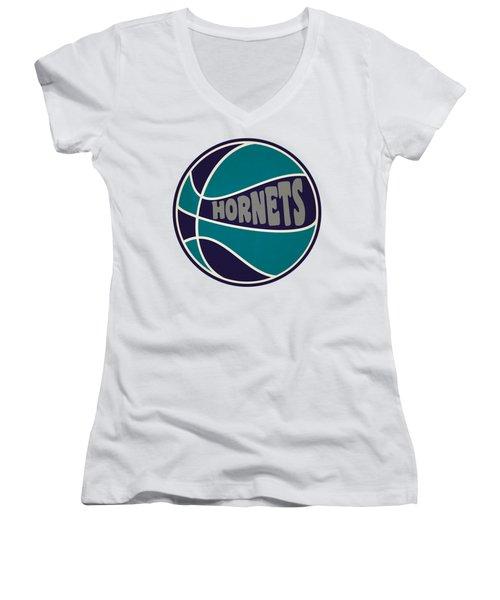 Charlotte Hornets Retro Shirt Women's V-Neck T-Shirt