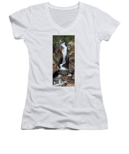 Chasm Falls - Panorama Women's V-Neck (Athletic Fit)