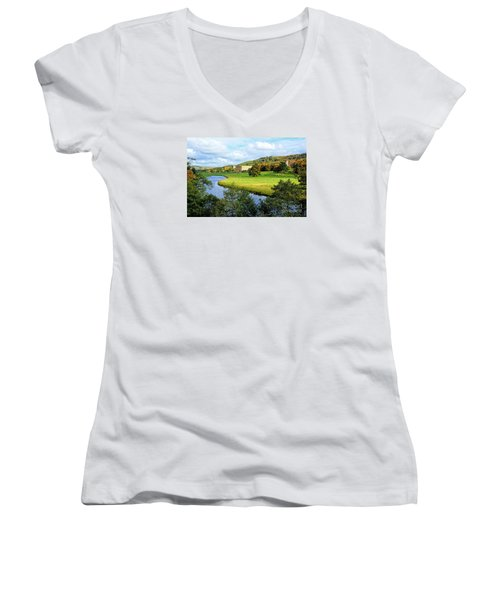 Chatsworth House View Women's V-Neck (Athletic Fit)