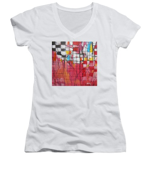 Checkmate Women's V-Neck (Athletic Fit)