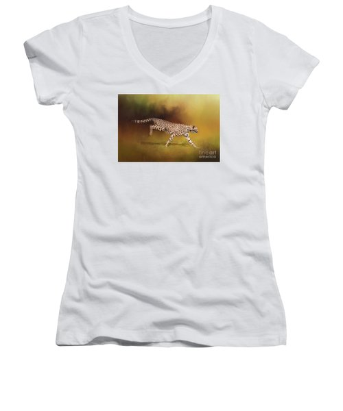 Cheetah Running Women's V-Neck