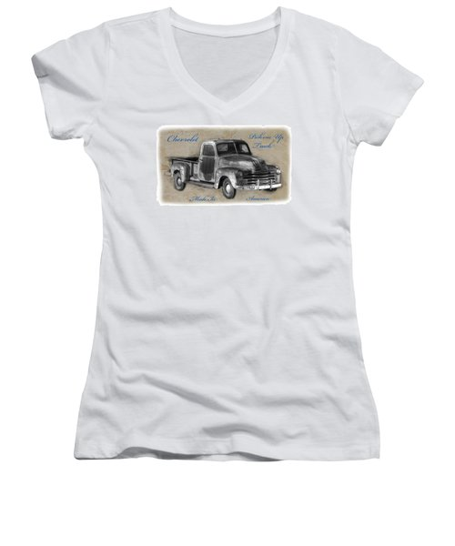 Chevy Pickup Truck T-shirt Women's V-Neck T-Shirt