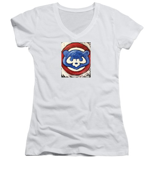 Chicago Cubs Women's V-Neck (Athletic Fit)