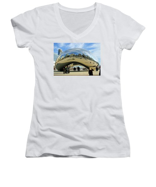Chicago Reflected Women's V-Neck T-Shirt