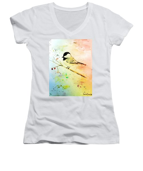Chick-a-dee Women's V-Neck