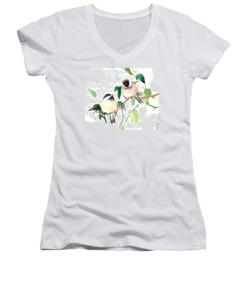 Chickadees Women's V-Neck T-Shirt