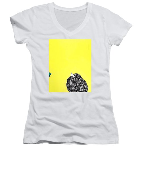 Chickens Four Women's V-Neck (Athletic Fit)