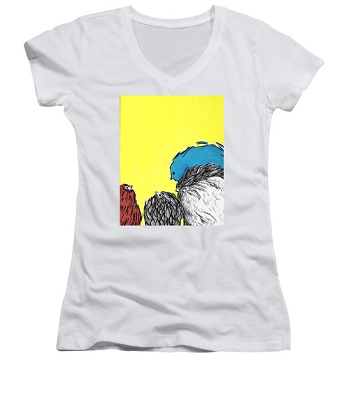 Chickens One Women's V-Neck (Athletic Fit)