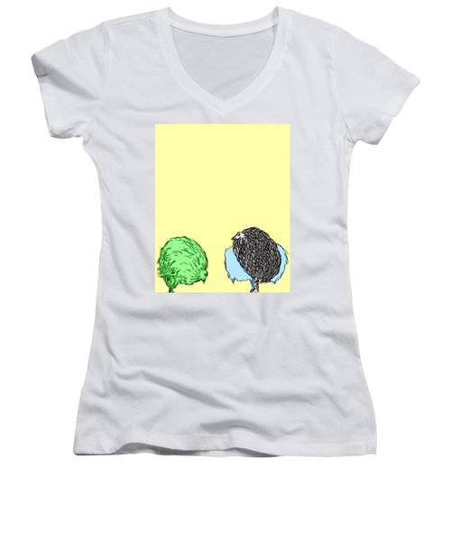 Chickens Three Women's V-Neck (Athletic Fit)