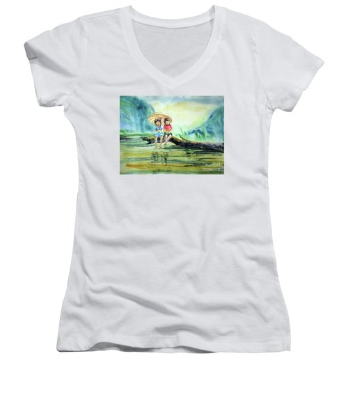 Childhood Joys Women's V-Neck