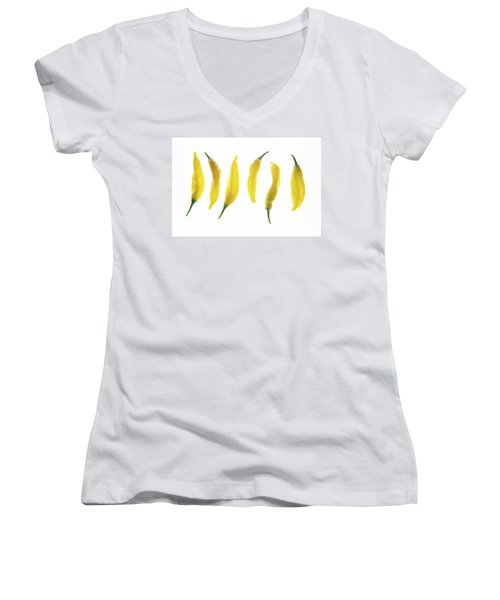 Chillies Lined Up II Women's V-Neck
