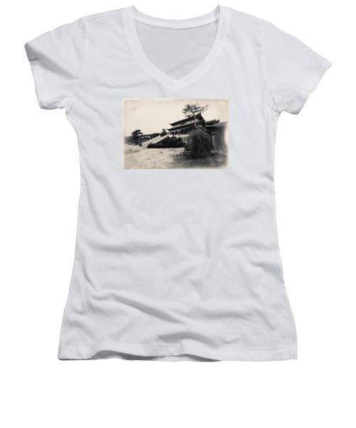 China #0640 Women's V-Neck T-Shirt