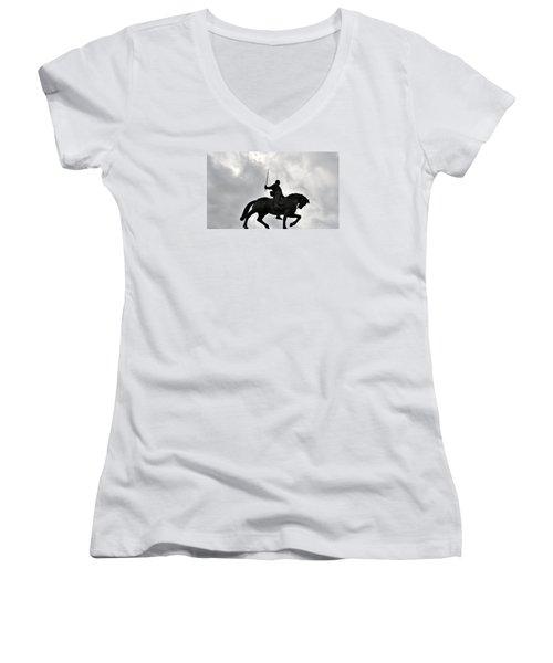 Chivalry Women's V-Neck T-Shirt (Junior Cut) by Marwan Khoury