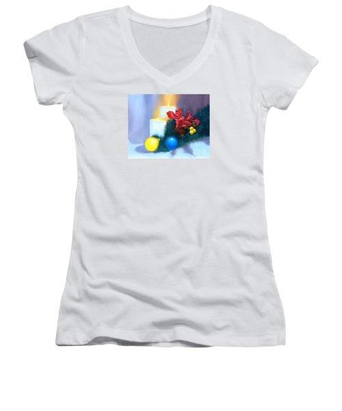 Christmas Card Women's V-Neck T-Shirt