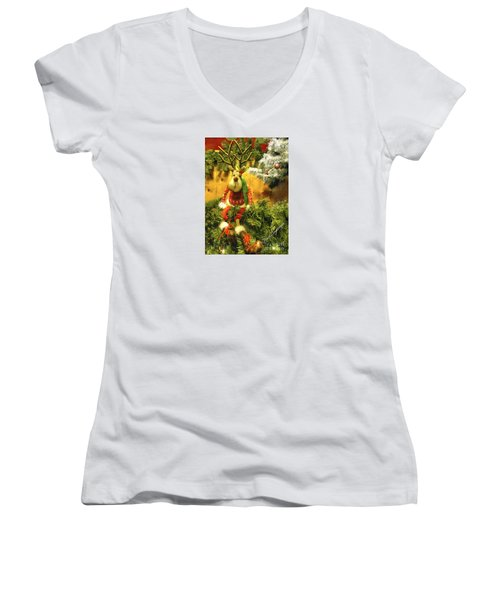 You're Out Of Milk And Cookies Women's V-Neck (Athletic Fit)