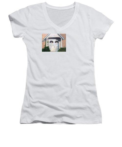 Church Doors Women's V-Neck T-Shirt