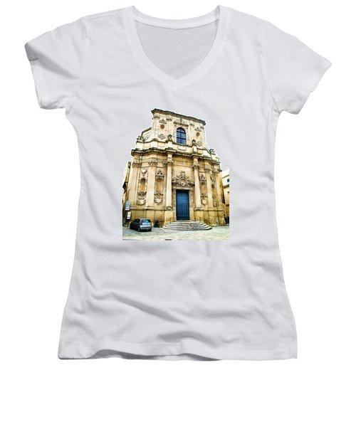Church Of St Chiari Women's V-Neck T-Shirt