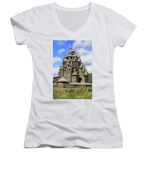 Church Of The Intercession Of The Blessed Virgin Mary, A Unique Monument Of Church Architecture Of A Women's V-Neck T-Shirt