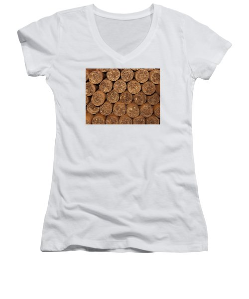 Cigars 262 Women's V-Neck T-Shirt