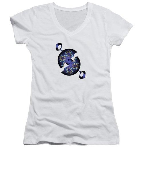 Circularium No 2634 Women's V-Neck T-Shirt