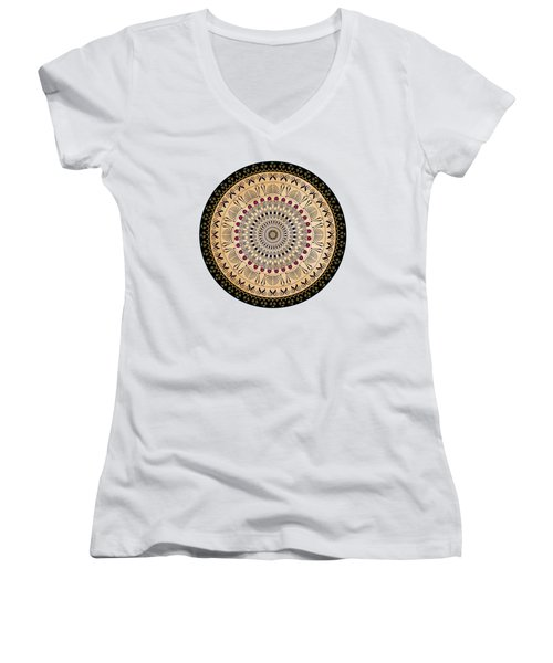 Circularium No 2637 Women's V-Neck T-Shirt (Junior Cut) by Alan Bennington