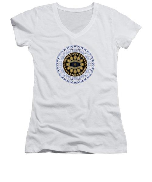 Circularium No 2638 Women's V-Neck T-Shirt