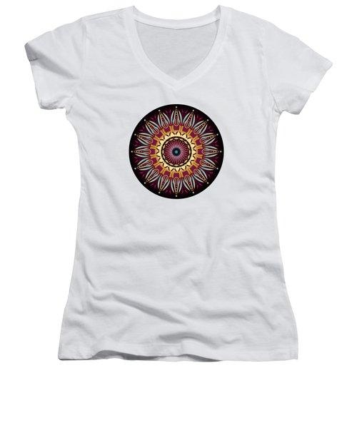 Circularium No 2639 Women's V-Neck T-Shirt