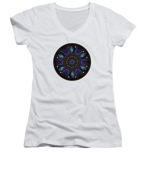 Circularium No 2707 Women's V-Neck T-Shirt