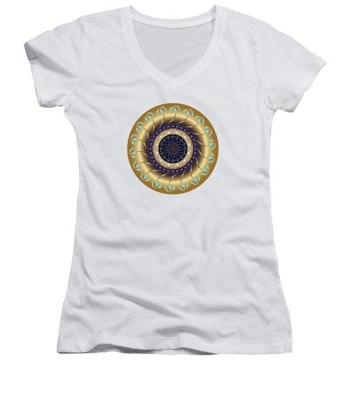 Circularium No 2708 Women's V-Neck T-Shirt