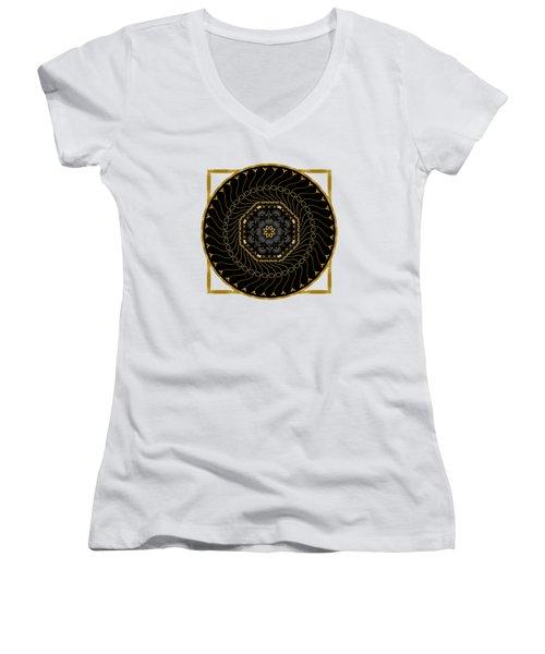 Circularium No 2712 Women's V-Neck T-Shirt
