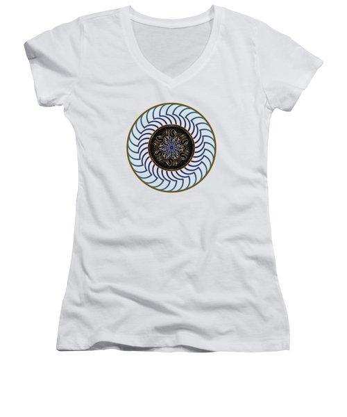 Circularium No. 2722 Women's V-Neck T-Shirt