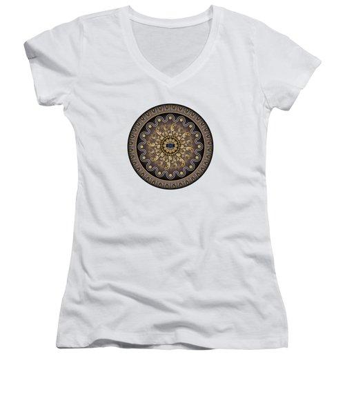 Circularium No. 2729 Women's V-Neck T-Shirt