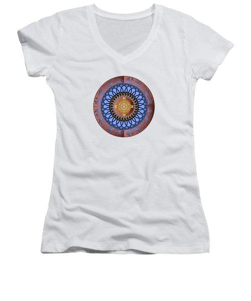 Circularium No. 2731 Women's V-Neck T-Shirt