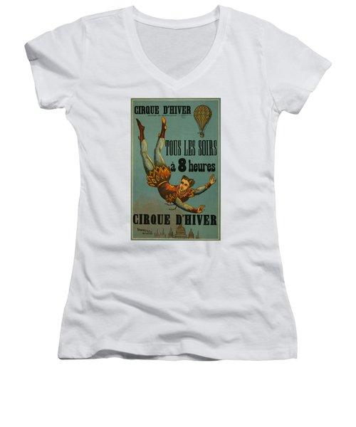 Cirque D'hiver Women's V-Neck T-Shirt