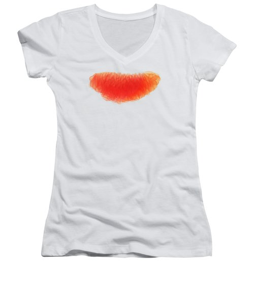Citrus Smile Women's V-Neck T-Shirt (Junior Cut) by Sverre Andreas Fekjan