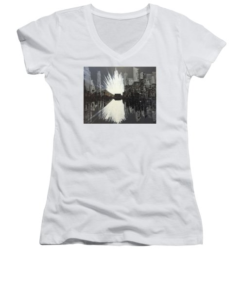 City Reflections Women's V-Neck T-Shirt