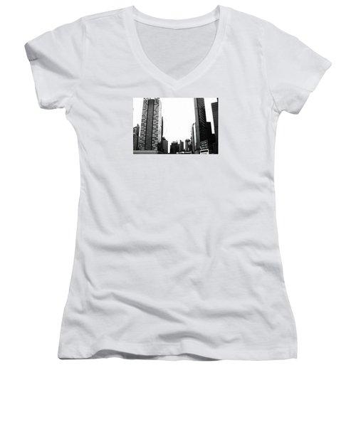 Cityscape Women's V-Neck T-Shirt
