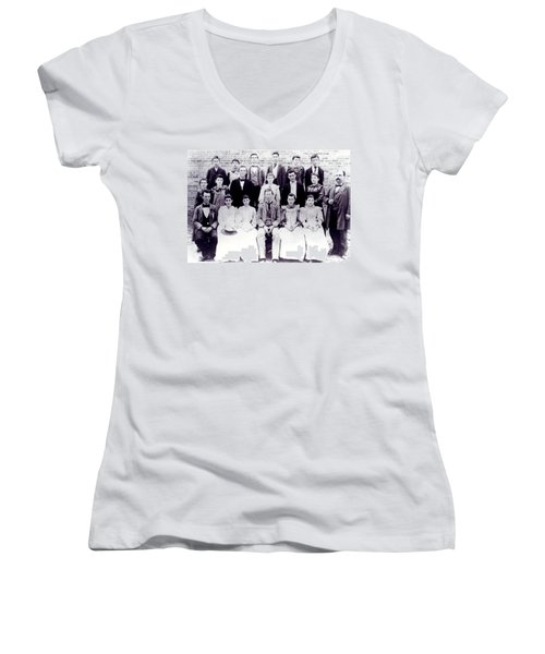 Class Of 1894 Bw Women's V-Neck (Athletic Fit)