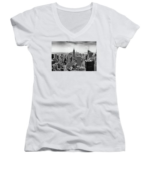 Classic New York  Women's V-Neck (Athletic Fit)