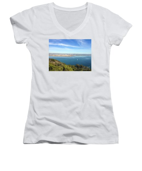 Clear Blue Sea Women's V-Neck