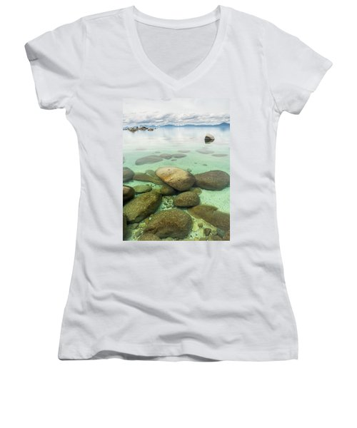 Clear Water, Stormy Sky Women's V-Neck
