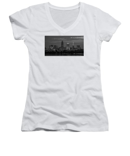 Cleveland After Dark Women's V-Neck