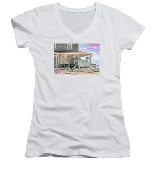 Cliff Island Store 2017 Women's V-Neck (Athletic Fit)