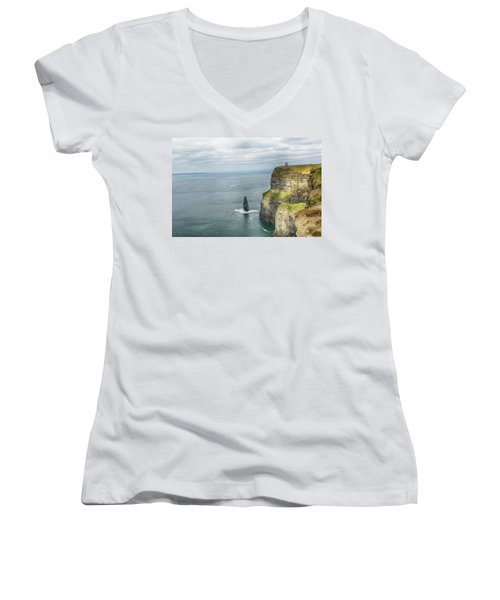 Cliffs Of Moher 3 Women's V-Neck (Athletic Fit)
