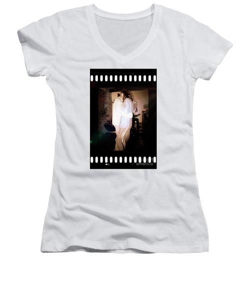 Women's V-Neck T-Shirt (Junior Cut) featuring the photograph Closeness by Al Bourassa