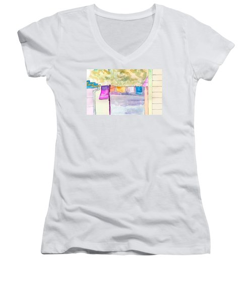 Clothes On The Line Women's V-Neck T-Shirt