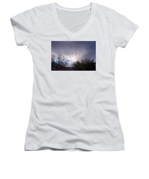 Clouds In Desert Women's V-Neck T-Shirt