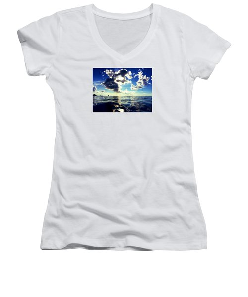 Clouds Women's V-Neck